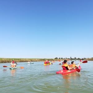 Escursione in canoa lungo il torrente Bevano