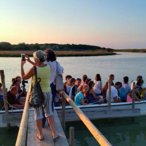 Tramonto in barca sul Bevano